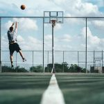 Tall Person Playing Basketball