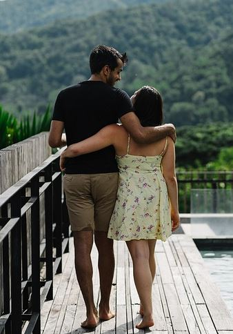 Tall Man With Girlfriend